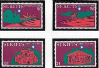 St Kitts SG49-52 1980 Christmas set 4v complete unmounted mint